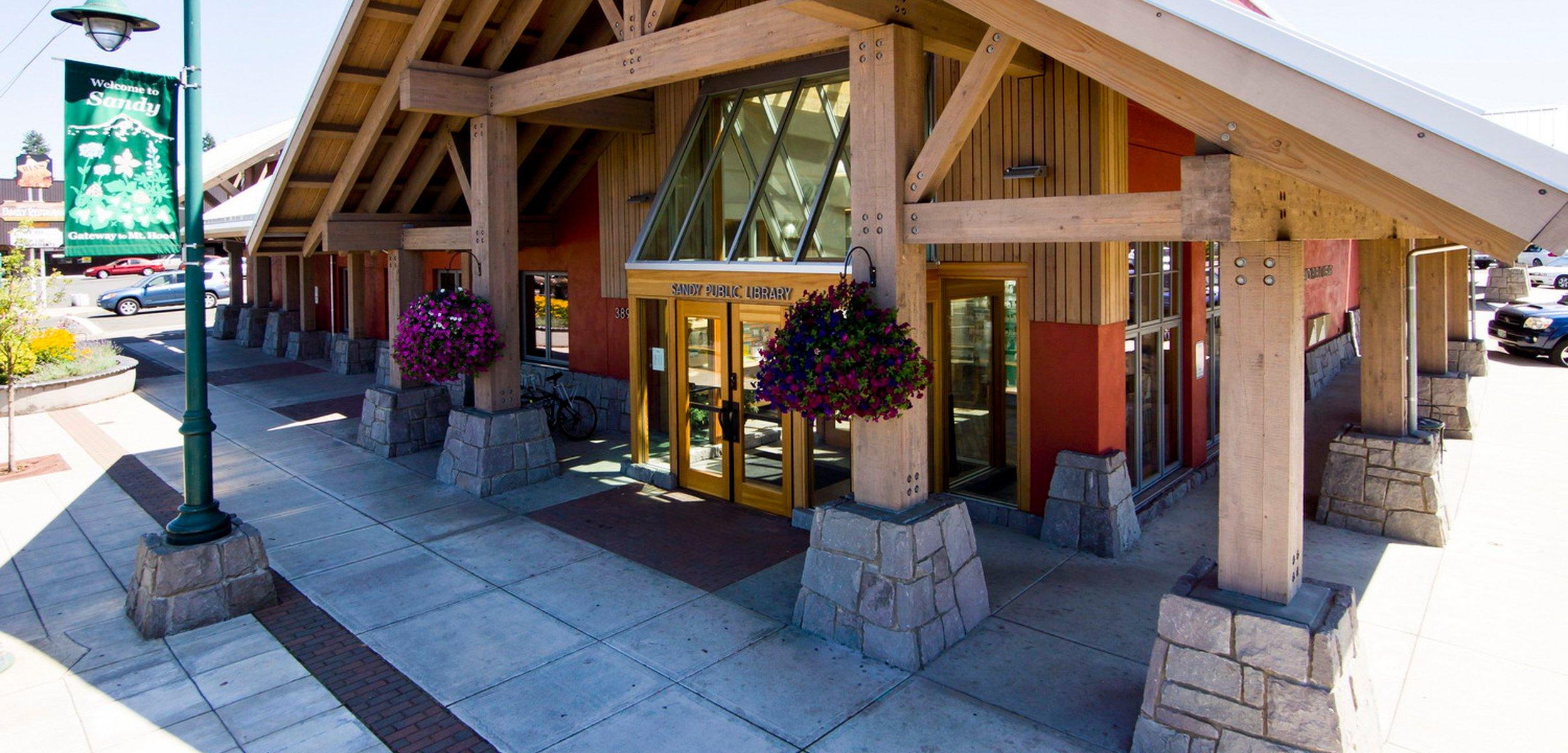 Image result for Sandy Oregon library walk